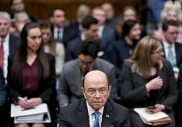 Commerce Secretary Wilbur Ross, who oversees the Census Bureau, waits for a House Oversight and Reform Committee hearing to begin in Washington, D.C., in 2019. In July, Ross directed bureau officials to speed up the 2020 census to end counting a month ea
