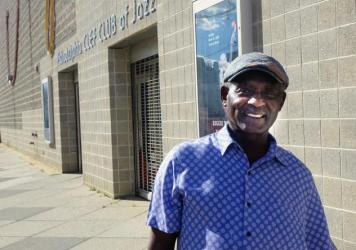 Lovett Hines, artistic director and founder of the Music Education Program, standing outside of the Philadelphia Clef Club of Jazz & Performing Arts.