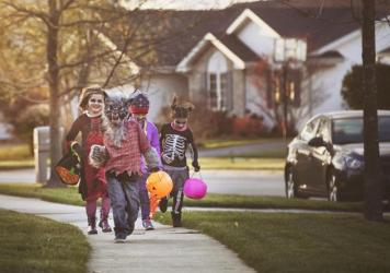 Halloween is one more thing being upended by the pandemic. Federal guidelines advise against traditional trick or treating, but parents around the country are trying to make the holiday special for their children anyway.