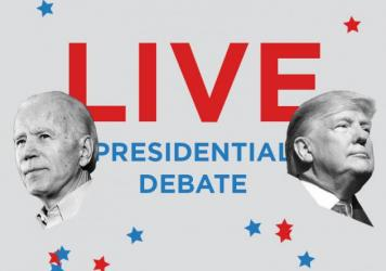 President Trump and Democratic nominee Joe Biden are debating Tuesday night in Cleveland for the first time.