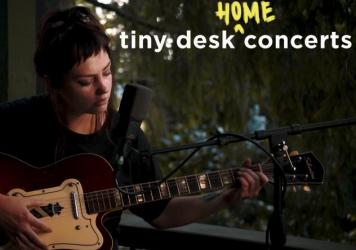 Angel Olsen plays a Tiny Desk (home) concert.