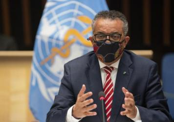 WHO Director-General Tedros Adhanom Ghebreyesus, shown here at a meeting on Monday, has said that the coronavirus death toll is likely higher than the more than 1 million fatalities officially reported.
