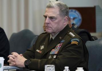 Army Gen. Mark Milley, the chairman of the Joint Chiefs of Staff, is among several top military officials who are quarantining at home. They attended meetings last week with Adm. Charles Ray, the vice commandant of the Coast Guard, who has tested positiv