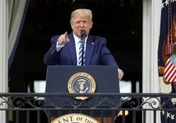 President Trump gave remarks at his first public event since testing positive for the coronavirus earlier this month.