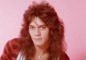 A portrait of Eddie Van Halen, from a photo shoot in Tokyo, Sep. 1979.