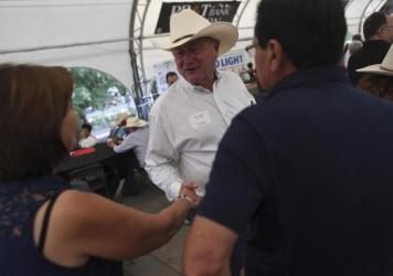 Pueblo Mayor Nick Gradisar attended the Legislative BBQ at Colorado State Fair on August 23, 2019 in Pueblo, Colorado.