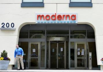 A heavily redacted supply contract between the federal government and vaccine developer Moderna, headquartered in Cambridge, Mass., was released Friday.