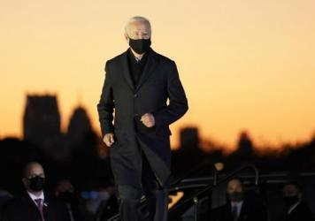 Democratic presidential candidate Joe Biden at a rally on Belle Isle in Detroit on Oct. 31.