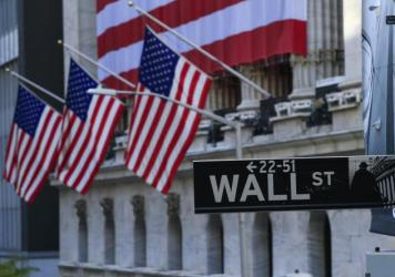 The exterior of the New York Stock Exchange is seen on Nov. 4, 2020 in New York. Stocks were set to surge after Pfizer said its experimental COVID-19 vaccine was 90% effective and after former Vice President Joe Biden was elected president.