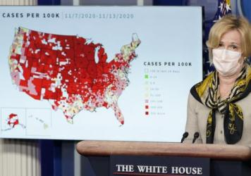 Dr. Deborah Birx, the White House's coronavirus response coordinator, speaks during a briefing with the coronavirus task force at the White House on Thursday. The Food and Drug Administration has granted emergency use authorization for a second antibody
