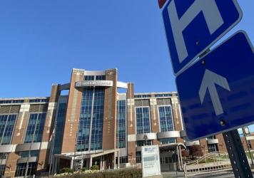 """Saint Luke's Hospital of Kansas City is one of the 18 hospitals in the Saint Luke's Health System. Two-thirds of the COVID-19 patients transferred to Saint Luke's from rural areas need intensive care. """"We get the sickest of the sick,"""" says Dr. Marc Larse"""