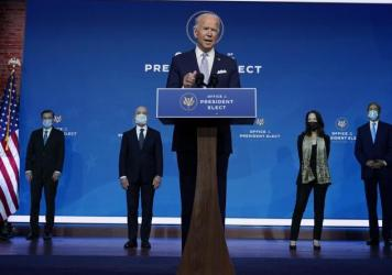 President-elect Joe Biden on Tuesday introduced his nominees and appointees to key national security and foreign policy posts. In an exclusive interview with NBC News' Lester Holt he said key agencies from the Trump administration are reaching out to fac