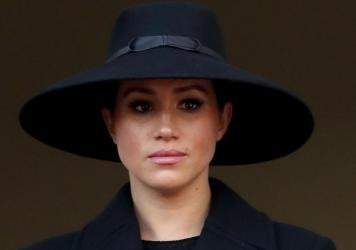 Meghan, Duchess of Sussex, seen here during a ceremony last year in London, revealed Wednesday in an op-ed that she suffered a miscarriage this past summer.
