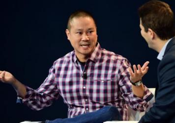 Former Zappos CEO Tony Hsieh, pictured at a 2015 event in Laguna Beach, Calif, died Friday at the age of 46.