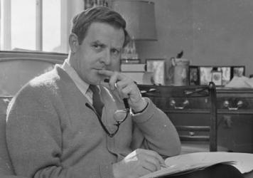 English writer and spy novelist John le Carré, pictured in March 1965. He died Saturday at age 89.