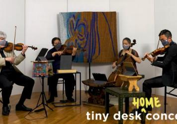 Borromeo String Quartet plays a Tiny Desk (home) concert.