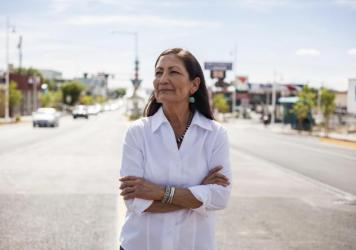 "Rep. Deb Haaland would be the country's first Native American Cabinet secretary. She opposed many Trump environmental rollbacks on public lands and considers climate change ""the challenge of our lifetime."""