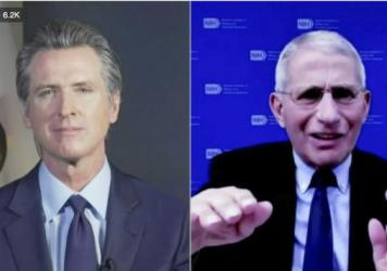 California Gov. Gavin Newsom announced the first known case of the new coronavirus variant in the nation's most populous state during an online conversation with Dr. Anthony Fauci. The first U.S. case was found in Colorado.