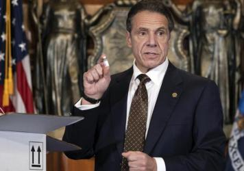 "Gov. Andrew Cuomo is urging New Yorkers to get the COVID-19 vaccine when it becomes available to them. ""This is not only an individual responsibility; it is a community obligation,"" he said."