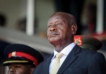 """Uganda's President Yoweri Museveni has been in power since 1986. His police chief has warned that anyone causing trouble on election day """"will regret being born."""" Museveni is facing a formidable electoral challenge from Bobi Wine, who has been arrested m"""