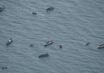 """Indonesian navy forces were able to recover a """"black box"""" from the crashed Sriwijaya Air passenger jet on Tuesday."""