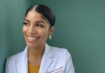 Dr. Kristamarie Collman, a family physician in Orlando, has been dispelling vaccine myths through social media. She's among a growing cohort of Black doctors trying to reach vaccine-hesitant members of their communities.