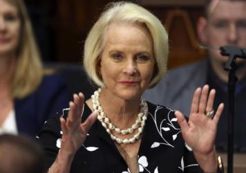 Arizona Republicans voted Saturday to censure Cindy McCain, widow of former Arizona Sen. John McCain, and two prominent GOP officials who have found themselves in disagreement with former President Trump.