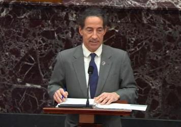 "Lead impeachment manager Rep. Jamie Raskin, D-Md., called former President Donald Trump ""inciter-in-chief"" during opening arguments of the second day of the Senate impeachment trial."