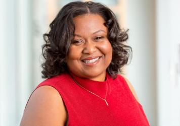 Headshot of Kenya Young at the NPR offices in Washington, DC.