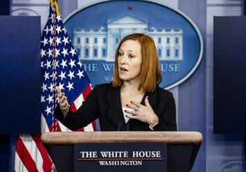 White House Press Secretary Jen Psaki speaks during the daily press briefing on March 5.