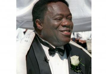 Actor Yaphet Kotto appears on his wedding day in Baltimore, Md., on July 12, 1998. Kotto, the commanding actor of the James Bond film <em>Live and Let Die</em> and as Lt. Al Giardello on the 90's NBC police drama <em>Homicide: Life on the Street</em>, di