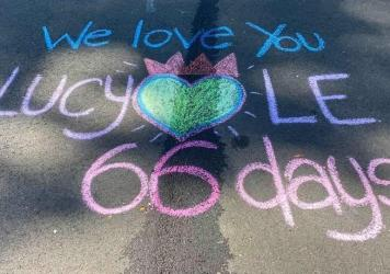"""Last summer, Lucy Le was killed on a street near her Virginia home by a neighbor backing out of her driveway. Her daughter, Laura Pho, now draws a new memorial to her mother every day on the pavement where she died. """"It's my meditation,"""" she says. """"It's"""