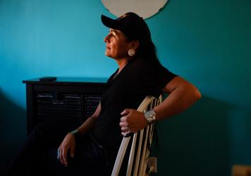 """In the Navajo culture, it's a matriarchal society. And with the matriarch, which is my grandmother, once she passes, the next holder is a two-spirit individual; it's usually a male/female, an individual like me,"" says Travis Goldtooth, who is part of th"