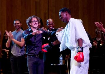 Arthur and Abrams have collaborated on similar projects in the past, including a rap opera about Muhammad Ali in 2017.