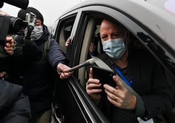 World Health Organization investigative team member Peter Daszak (shown here during a trip to China in February) tells NPR that the group's report calls for additional research on farms that breed exotic animals in southern China.