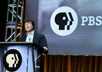 Ken Burns speaks during the PBS segment of the Summer 2019 Television Critics Association Press Tour.