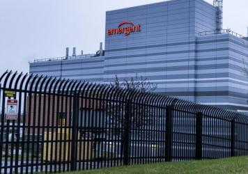 An Emergent BioSolutions facility in Baltimore on Thursday.
