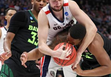 Gonzaga and Baylor two years ago during the second round of the tournament.