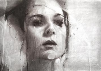 Alyssa Monks, <em>Transfixed (drawing),</em> 2020, vine charcoal on paper