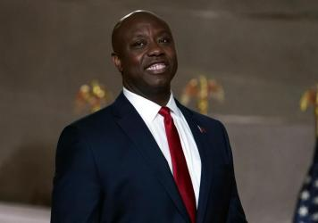 Sen. Tim Scott, R-S.C., pictured at the Republican National Convention on Aug. 24, 2020, gave the Republican response to President Biden's address to Congress on Wednesday.