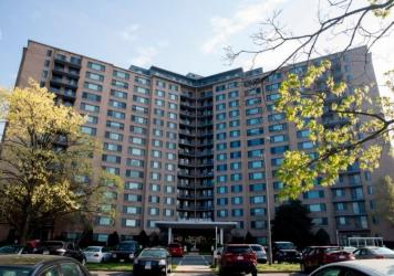 """Several residents of the Southern Towers apartment complex in Alexandria, Va., briefly had a campaign asking the landlord to """"cancel"""" rent during the pandemic."""