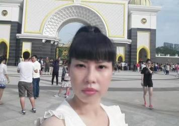 A selfie Feng Daoyou took in Macau. Her older brother Feng Daokun believes she traveled to Hong Kong before flying to the U.S., from where she first contacted him in 2016. Unlike the rest of her family, she did not marry, and seemed to relish venturing f