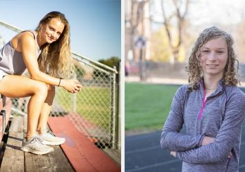 Madison Kenyon (left), who is cisgender, runs track and cross-country at Idaho State University. She supports Idaho's transgender sports ban. Lindsay Hecox (right) is transgender and hopes to make the women's track and cross-country teams at Boise State