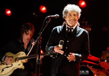 Bob Dylan onstage during the 17th Annual Critics' Choice Movie Awards held at The Hollywood Palladium on January 12, 2012