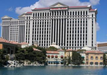 Caesars, across Bellagio Lake