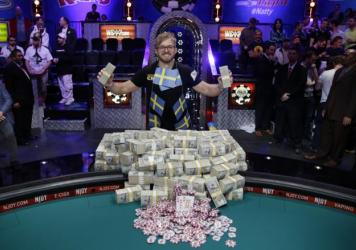 World Series of Poker 2014 Main Event winner Martin Jacobson