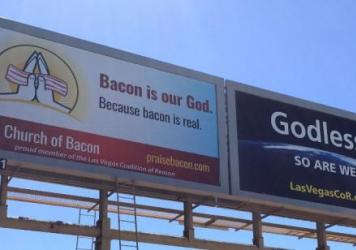 United Church of Bacon billboard