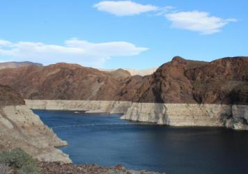 Lake Mead stores water from the Colorado River on the Nevada, Arizona border.