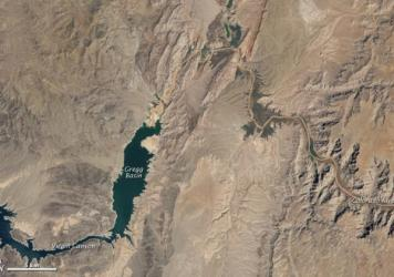 Aerial photo of Lake Mead from 2010.