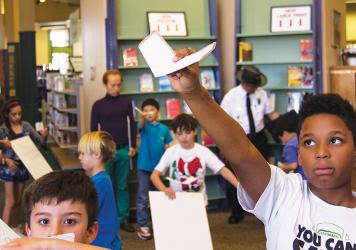 Kids learn about science and tech at Green Valley Library.